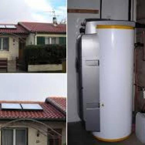 chauffe eau solaire  300 litres avec capteur plan