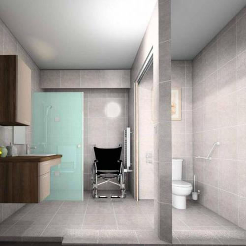 salle d eau pour personne a mobilité reduite,douche,baignoire,lavabo